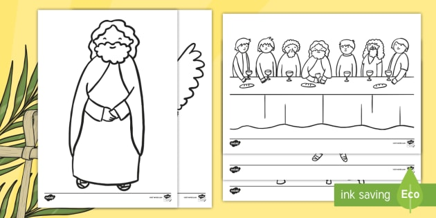 Easter Story Colouring Sheets - easter, religion, RE, colouring