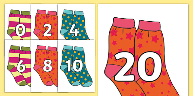 Counting in 2s on Socks - Counting, Numberline, Number line, Counting on, Counting back, even numbers, foundation stage numeracy, socks, counting in 2s, trian, numbes, counting in2s, countng, couting, nubers, numracy, coutning, feet