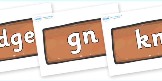 Silent Letters on Bricks - Silent Letters, silent letter, letter blend, consonant, consonants, digraph, trigraph, A-Z letters, literacy, alphabet, letters, alternative sounds