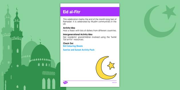 Elderly Care Calendar Planning July 2016 Eid Al Fitr - Elderly Care, Calendar Planning, Care Homes, Activity Co-ordinators, Support, July 2016