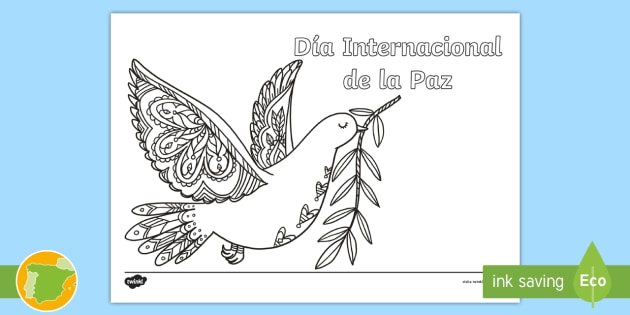 Hoja De Colorear Día Internacional De La Paz Mindfulness