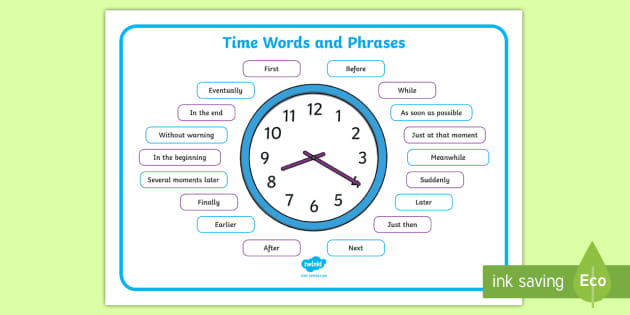 FREE! - Time Connectives Word Mat - Primary Resource