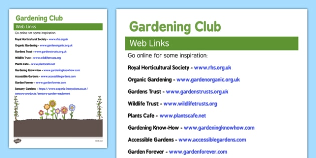 Elderly Care Gardening Club Web Links - Elderly, Reminiscence, Care Homes, Gardening Club