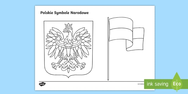 Kolorowanka Polskie Symbole Narodowe Teacher Made