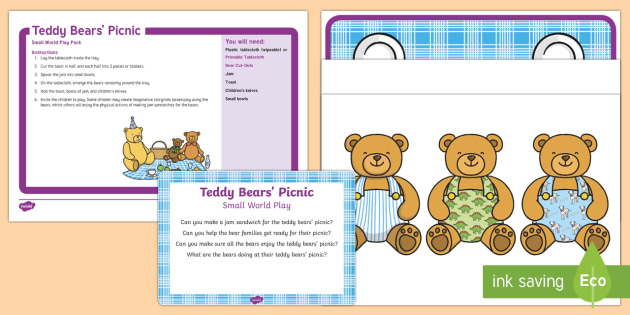 photo about Printable Bears Schedule known as Teddy Bears Picnic Very little Planet Participate in Thought and Printable