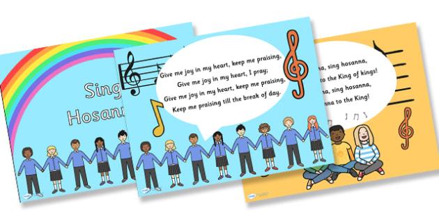 Sing Hosanna Hymn Lyrics PowerPoint - sing hosanna, hymn, lyrics, hymn lyrics, powerpoint, music, lyrics powerpoint, hymn powerpoint, sing along powerpoint