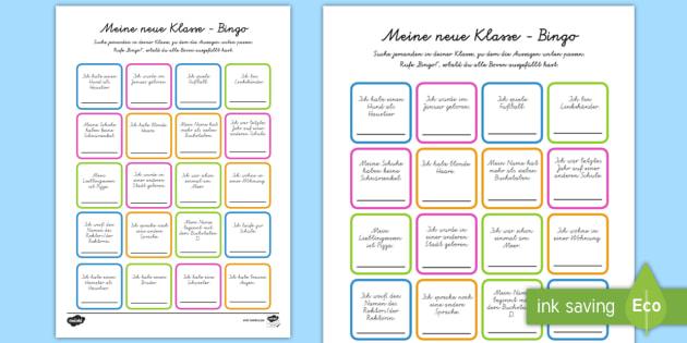 Meine neue Klasse Bingo/Lotto Spiel - Klassenzimmer, Übergang