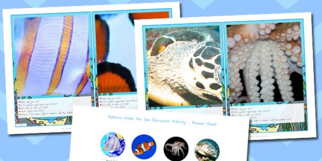 Patterns Under the Sea Discussion Activity - australia, patterns