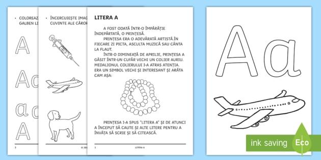 învățăm Litera A A Broșură Cu Activități Litera Litere Clasa