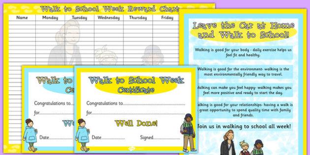 Walk to School Week Resource Pack - walk to school week, resource pack, walk, school, pack