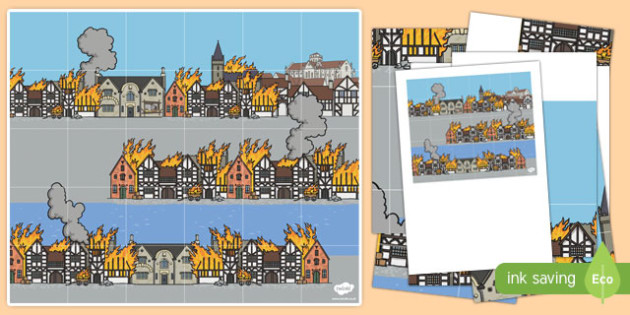 The Great Fire of London Bee-Bot Mat