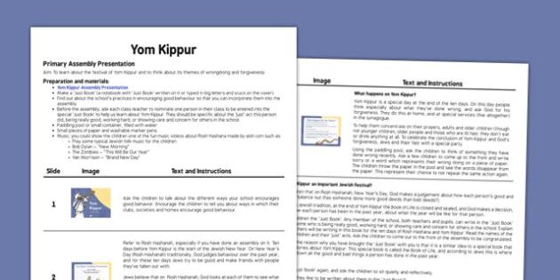 Yom Kippur Assembly Script - yom kippur, assembly, script, school