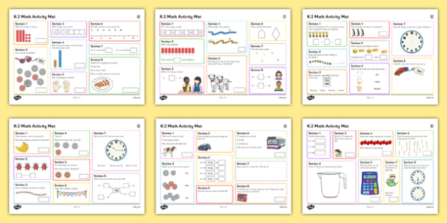 K-2 Math Activity Mats - usa, america, year 1, y1, maths, numeracy, maths activities, activities, problem solving