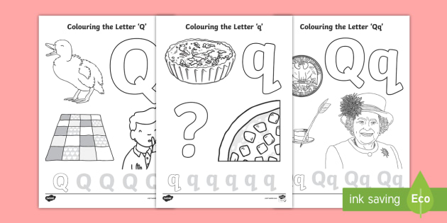 Letter Q Coloring Pages Coloring Coloring Sheets