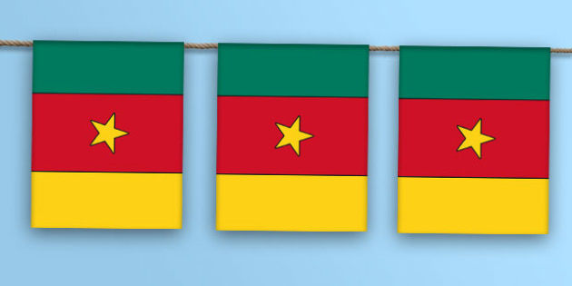 Cameroon Flag Bunting - cameroon flag, cameroon, flag, display bunting, display, bunting