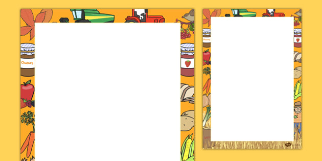 Harvest Writing Frames - autumn, seasons, harvest, writing aid