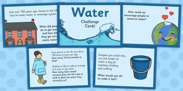 water challenge cards water challenge cards challenge cards