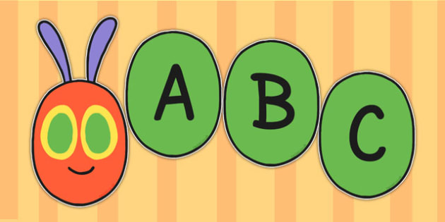 Display Lettering to Support Teaching on The Very Hungry Caterpillar - stories, display