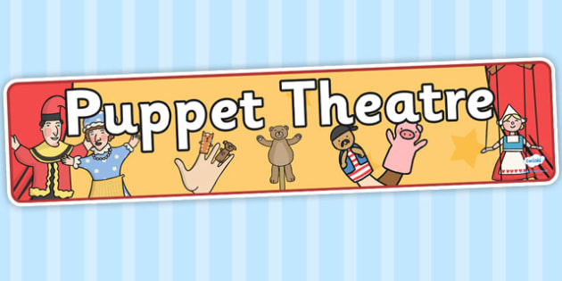 Puppets Display Banner - puppet, glove puppet, theathre, show, string puppet, display, banner, sign, poster, pinocchio, Punch and Judy, puppeteer, performance, strings, marionette
