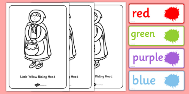Little Red Riding Hood Read and Colour Resource Pack - little red riding hood, read, colour, resource pack