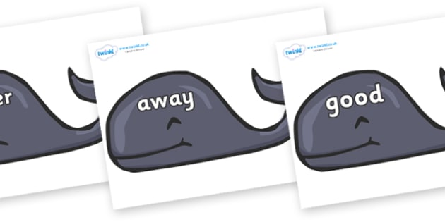 Next 200 Common Words on Whales - Next 200 Common Words on  - DfES Letters and Sounds, Letters and Sounds, Letters and sounds words, Common words, 200 common words
