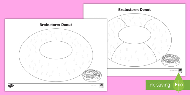 SA Brainstorm Donut Writing Template