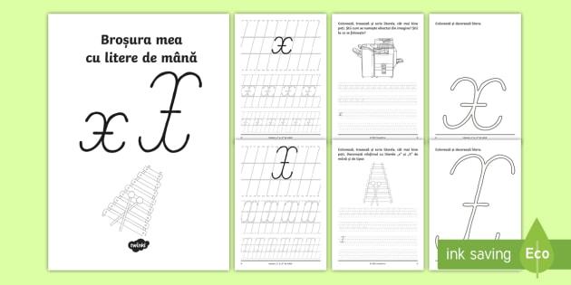 Scrierea Literelor X și X De Mână Broșură Cu Activități
