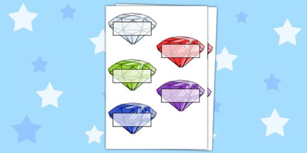 Gemstone Self-Registration - gems, gemstones, treasure, pirates, fantasy, diamonds, crystals, magic, register, registration