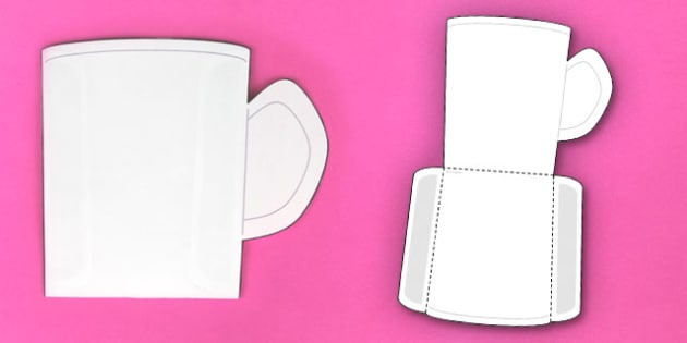 Interactive Mug-Shaped Pocket Visual Aid Template - Visual aid, mug
