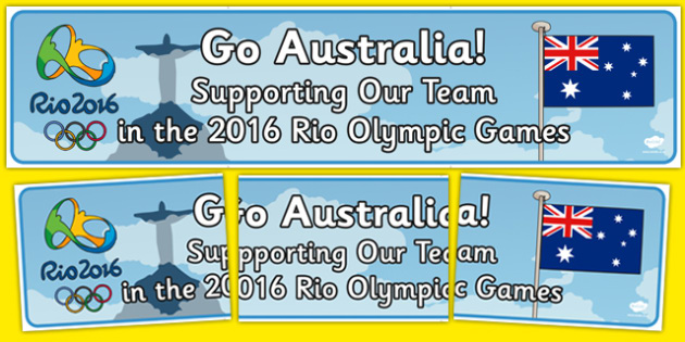 Australia 2016 Rio Olympics Banner - Olympics, Rio, 2016, Australia, Display, Banner