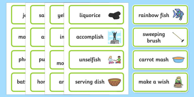 Three Syllable Final 'Sh' Sound Word Cards - final sh, sound