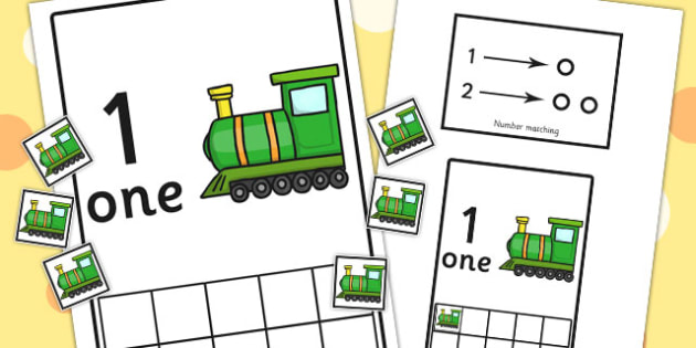 Workstation Pack 1-10 Train Number Activities - teacch