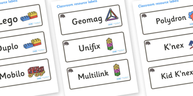 Hippo Themed Editable Construction Area Resource Labels - Themed Construction resource labels, Label template, Resource Label, Name Labels, Editable Labels, Drawer Labels, KS1 Labels, Foundation Labels, Foundation Stage Labels