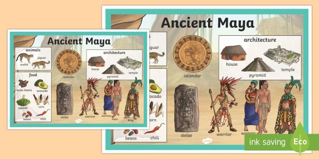 Maya Civilization Large Display Poster - mayans, history, poster