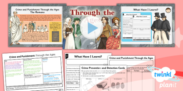 History: Crime and Punishment: Through the Ages LKS2 Lesson Pack 6