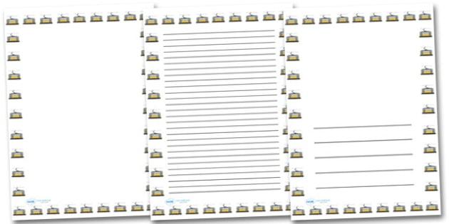 Tram Portrait Page Borders- Portrait Page Borders - Page border, border, writing template, writing aid, writing frame, a4 border, template, templates, landscape