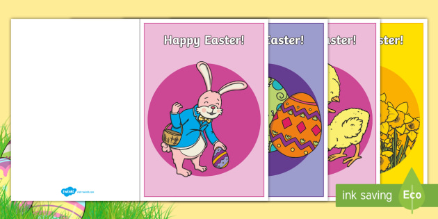easter card templates a5 easter topic easter happy easter
