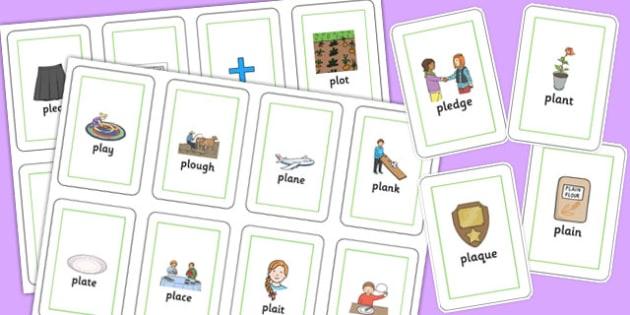 PL Sound Flash Cards - pl sound, flash cards, pl, sound, flashcards