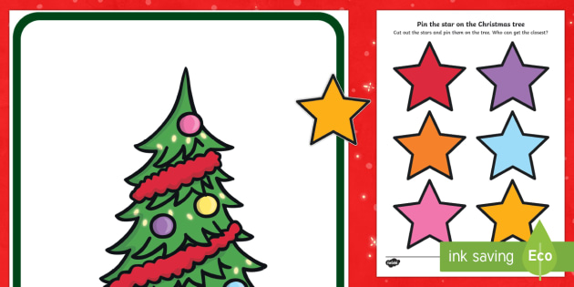 Pin the Star on the Christmas Tree Activity