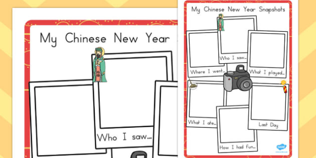 Chinese New Year Snapshot Writing Frame - australia, writing