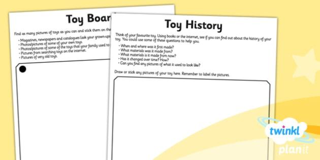History: Toys KS1 Unit Home Learning Tasks