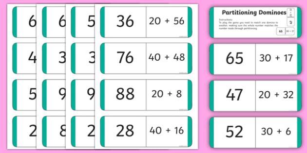 Partitioning Loop Card Dominoes