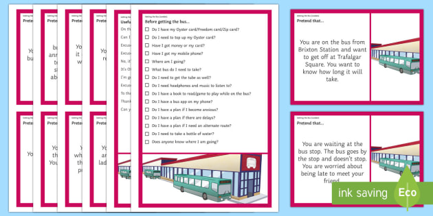 Getting the Bus (London) – Scenarios and Social Scripts