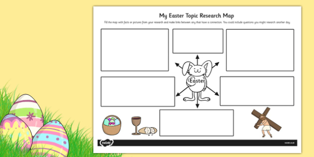 Easter Topic Research Map - topic, research map, easter, map