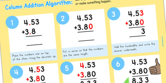 Add Algorithm Computing Curriculum Poster Decimals - australia