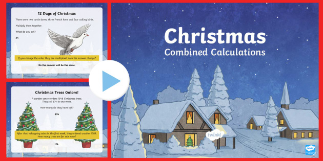 LKS2 Christmas Combined Calculations PowerPoint