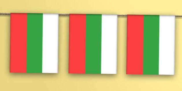 Bulgaria Flag Bunting - bulgaria flag, bulgaria, flag, display bunting, display, bunting