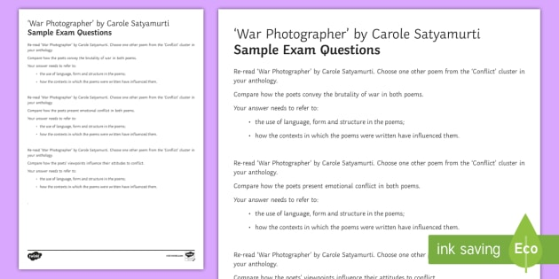 GCSE Edexcel Style Sample Exam Questions to Support Teaching on 'War