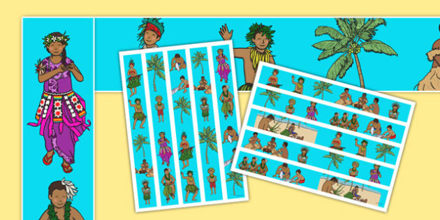 Pacific Islands Themed Display Borders - nz, new zealand, pacific islands, display borders