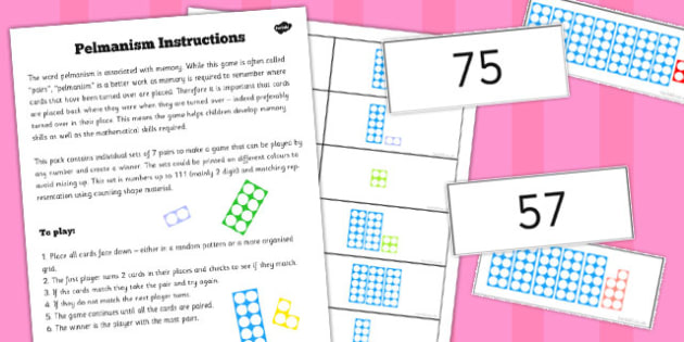 Pelmanism Counting Shape Game - pelmanism, count, shape, game